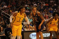 Erlana Larkins and Brittney Griner stock photography