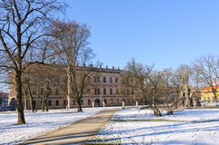 Erlangen, Allemagne en hiver Image libre de droits