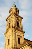 Erlangen, Church Tower Stock Photo