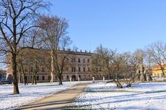 Erlangen, Deutschland im Winter lizenzfreies stockbild