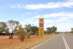 Erldunda Roadhouse at the Stuart Highway,  Outback of Australia Royalty Free Stock Images