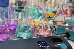 Erlenmeyer flasks Stock Images