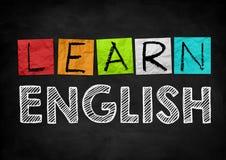 Erlernen Sie Englisch lizenzfreies stockbild