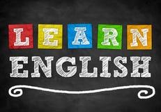 Erlernen Sie Englisch lizenzfreie abbildung