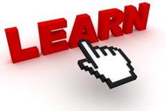 Erlernen Sie Text mit Computercursor Lizenzfreie Stockbilder