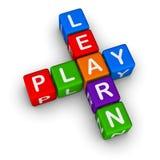 Erlernen Sie und spielen Sie Stockfotos