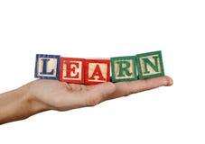 Erlernen Sie Wort Lizenzfreie Stockbilder
