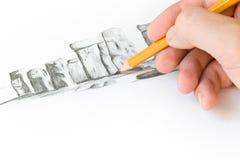 Erlernen Sie zu zeichnen Stockfoto