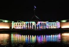 Erleuchten Sie Festival in Canberra lizenzfreie stockfotos