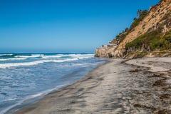Erleuchten Sie ` s Strand in Encinitas, Kalifornien lizenzfreies stockbild