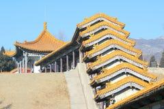 Erlong Mountain Pavilion. The close-up of pavilion in Erlong Mountain in Taiyuan,Shanxi,China Royalty Free Stock Photo