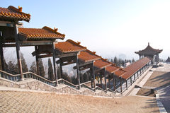 Erlong Mountain Pavilion Royalty Free Stock Photo