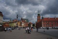 Erly华沙皇家城堡在老镇 图库摄影