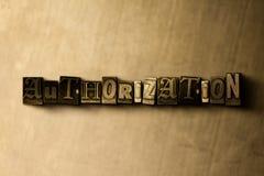 ERMÄCHTIGUNG - Nahaufnahme des grungy Weinlese gesetzten Wortes auf Metallhintergrund stock abbildung