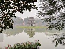 Ermüdet im See Kiem Hoan, Hanoi, Vietnam, stockbild