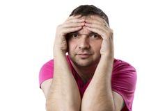Ermüdet von den Problemen des Kerls Lizenzfreies Stockfoto