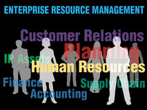 ERM Enterprise Resource Management business people. ERM Enterprise Resource Management planning financial supply chain people stock illustration