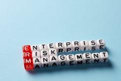 ERM Enterprise Risk Management blue Stock Photography