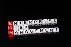 ERM przedsięwzięcia zarządzanie ryzykiem dices czerń Obrazy Stock