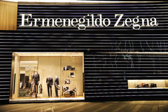 Ermenegildo Zegna Fashion Boutique Stock Image