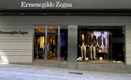 Ermenegildo Zegna fashion store Stock Photos