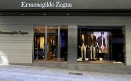 Ermenegildo Zegna fashion store Stock Photos