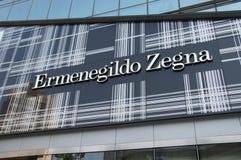 Ermenegildo Zegna mody sklep w Chiny Obrazy Stock