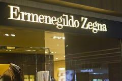 Ermenegildo Zegna Orchard Rd Singapore. Singapore, Oct 17 2011: The Ermenegildo Zegna store in Orchard Road Singapore is one of the major fine clothing brands Stock Photo