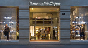 Ermenegildo Zegna shop in Quadrilatero d'Oro Stock Photos