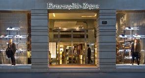 Ermenegildo Zegna shop in Quadrilatero d'Oro Stock Photos