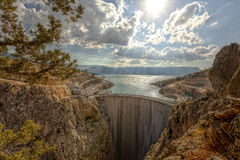 Ermenek Dam & HEPP. Ermenek Dam fully finished and full impounded Stock Photos