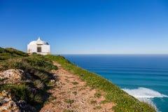 Ermida da Memoria or Memory Hermitage in the Nossa Senhora do Cabo or Pedra Mua Sanctuary. royalty free stock image