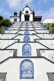 Ermida de Nossa Senhora da Paz, Sao Miguel, Azores royaltyfria bilder