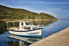 Ermioni in Greece is a small seaside town on the eastern coasts of Peloponnese, in the region of Argolis. stock photo