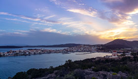 Ermioni Peloponnese. Sunset in Ermioni of Peloponnese, Greece royalty free stock photos