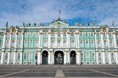 ermitażu pałac zima Obrazy Royalty Free