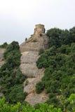 Ermita de Joan del santo en Montserrat Mountain, España Abadía benedictina Santa Maria de Montserrat en Monistrol de Montserrat Fotografía de archivo