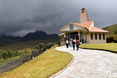 Ermita DE La Dolorosa op de Pinchincha-vulkaan Royalty-vrije Stock Foto's