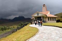 Ermita de la Dolorosa sul vulcano di Pinchincha Fotografie Stock Libere da Diritti
