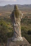 Ermita de la Piedad (Ulldecona - Tarragona), wo die Region von La serralada wird gesehen in MontsiÄ- (Katalonien - Spanien) Lizenzfreies Stockbild