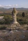 Ermita de la Piedad (Ulldecona - Tarragone), où la région du serralada de La soit vue dans le  de MontsiÄ (Catalogne - Espagne) photos stock