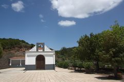 Ermita de las Hayas near a pedestrian route. Hermitage of Las Hayas near a pedestrian route very close to this hermitage or church there is a recreational area royalty free stock photography