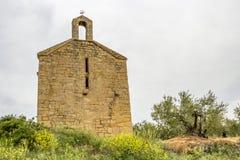 Ermita de San Miguel Arcangel or Hermitage of San Miguel, Villatuerta, Navarre, Spain royalty free stock image