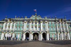 Ermita en el cuadrado del palacio, St Petersburg, Rusia Foto de archivo libre de regalías