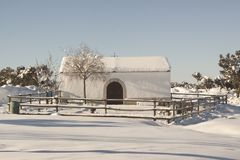 Ermita en el parque natural de Guadarrama Segovia, España Fotos de archivo