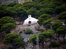 Ermita en Mijas uno de los pueblos 'blancos' más hermosos Imagen de archivo