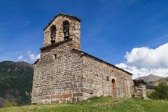 Ermita Románica en los Pirineos Foto de archivo