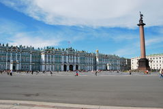 Ermitage - borne limite russe célèbre Photographie stock libre de droits