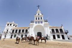Ermitage d'EL Rocio, Andalousie, Espagne Images stock