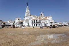 Ermitage d'EL Rocio, Andalousie, Espagne Photographie stock